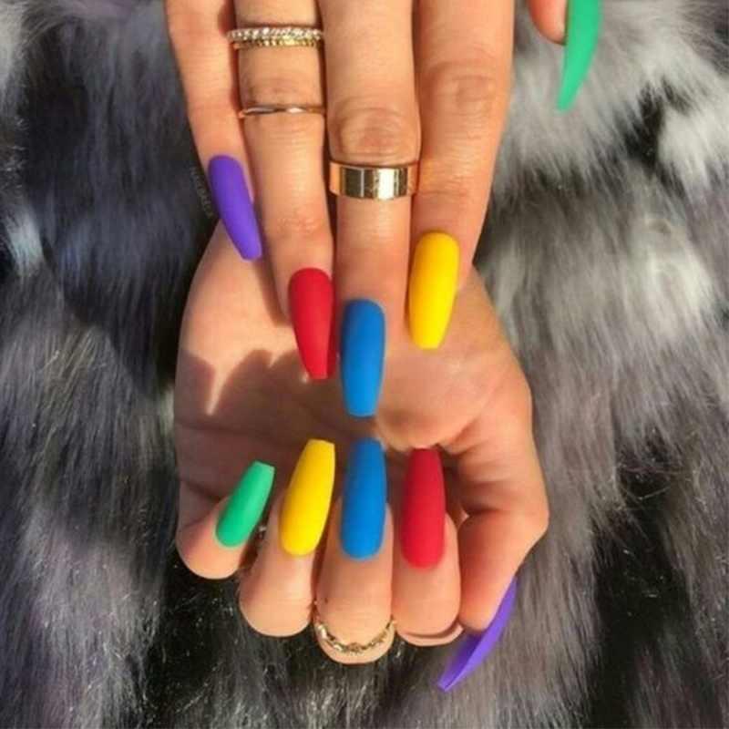 Azure Kecantikan 59 Warna Mencelupkan Bubuk Holographic Kerlap-kerlip Kuku DIP Bubuk Debu Efek Matte Kuku Pigmen Bubuk