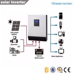 Гибридный солнечный инвертор с сеткой 3kva DC24V 220V Чистая Синусоидальная волна Солнечный преобразователь Солнечный контроллер заряда