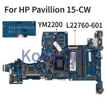 KoCoQin Laptop motherboard For HP Pavillion 15-CW YM2200 Mai