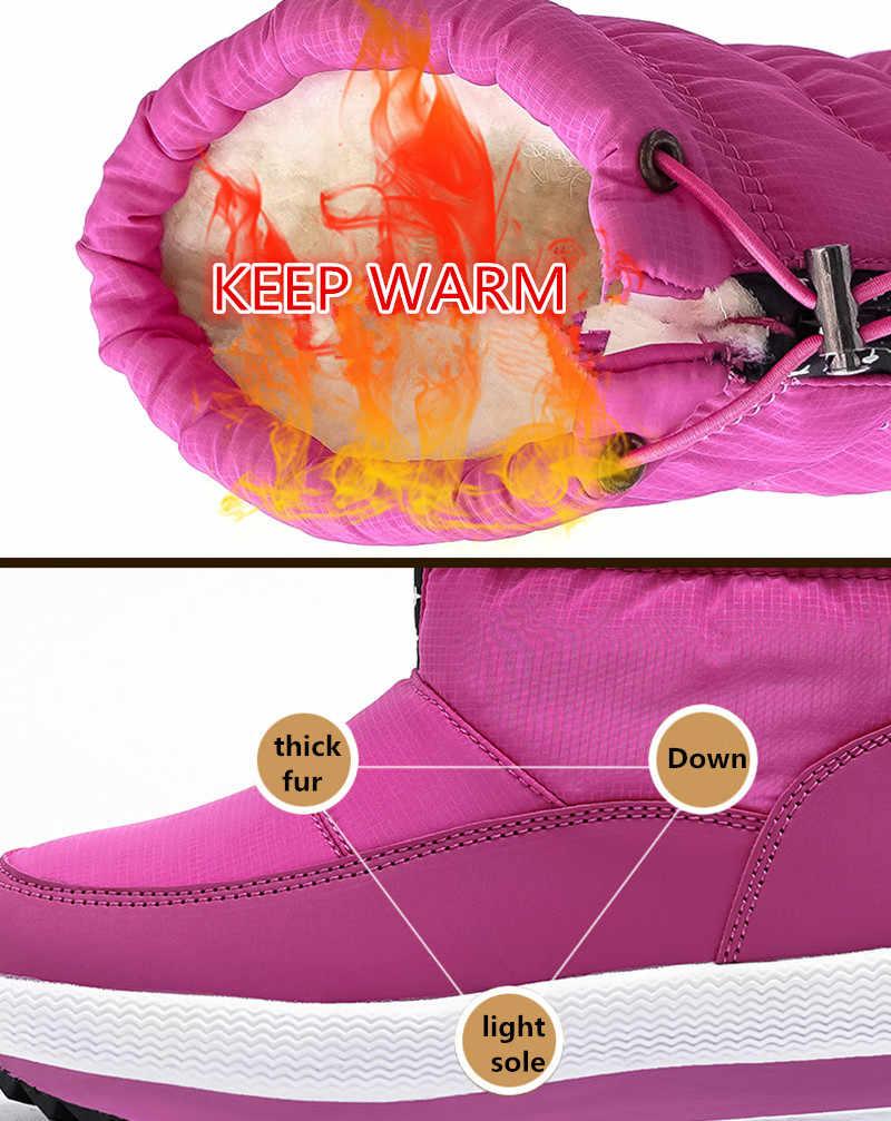 MORAZORA 2020 yeni kadın çizmeler kalın kürk sıcak kış botları pamuklu ayakkabılar kadın kar botları platformu su geçirmez kadın yarım çizmeler