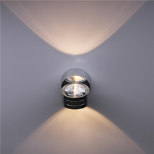 6W LED Aluminium Wall Light LED Indoor Lighting Light Fixture Wall Lamp For Bedside Living Room Bedroom Wall Lamps simple modern 6w lampada led aluminium wall light rail project square led wall lamp bedside room bedroom wall lamps arts