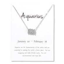 1 Pcs Fashion Jewelry Zodiac 12 Constellation Aquarius Virgo Pendant Necklace For Women Gifts