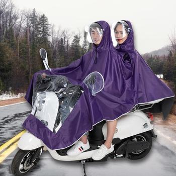 Pojedynczy podwójny płaszcz przeciwdeszczowy motocyklowy płaszcz wodoodporny płaszcz przeciwdeszczowy motocyklowy damski męski wysokiej jakości poncho przeciwdeszczowe sprzęt przeciwdeszczowy tanie i dobre opinie Unisex Motorcycle Raincoat Motorcycle cloak Motorcycle accessories Support