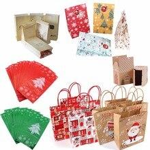 Рождественские бумажные подарочные пакеты Navidad рождественские украшения для дома Natal пластиковый пакет для конфет Kerst новогодние поставки Noel