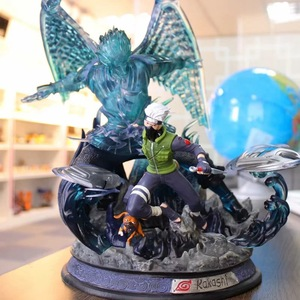 Image 4 - Anime Naruto Uchiha Sasuke Hatake Kakashi ostateczna bitwa pełnej długości portret ograniczona biust GK figurka Model kolekcjonerski zabawka