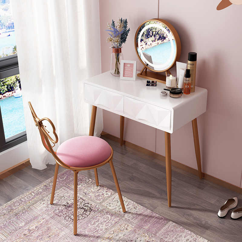 Nordic Light Luxury Dressing Table Louis Vanity Table Minimalist Makeup Desk Makeup Vanity Table Vanity Set Bedroom Furniture Aliexpress