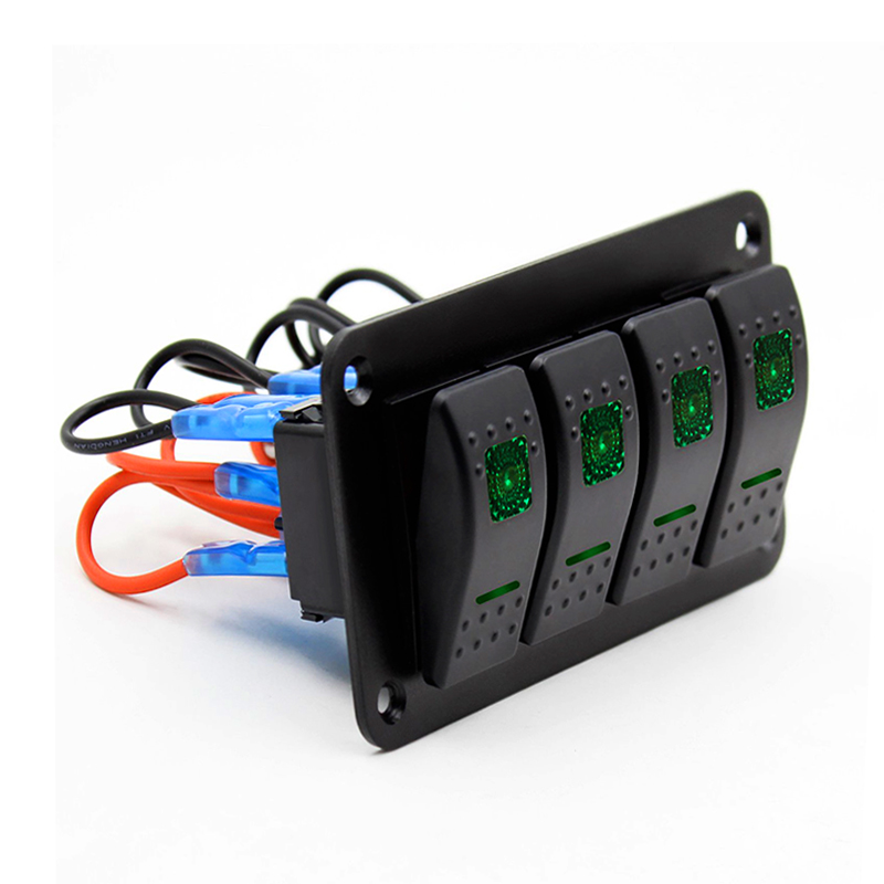 [DIAGRAM_4PO]  New Waterproof 4 Gang Switch Panel Fuse Circuit Breaker/Overload Protector  RV Yacht Marine Boat Car Universal 3 Colors Optional|Car Switches & Relays|  - AliExpress | Fuse Boat Breaker Panel |  | www.aliexpress.com