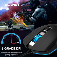лучшая цена TeckNet Mouse 7200DPI Programmable Gaming Mouse RGB Backlit USB Wired Optical Mouse Gamer Mice for PC Computer Laptop