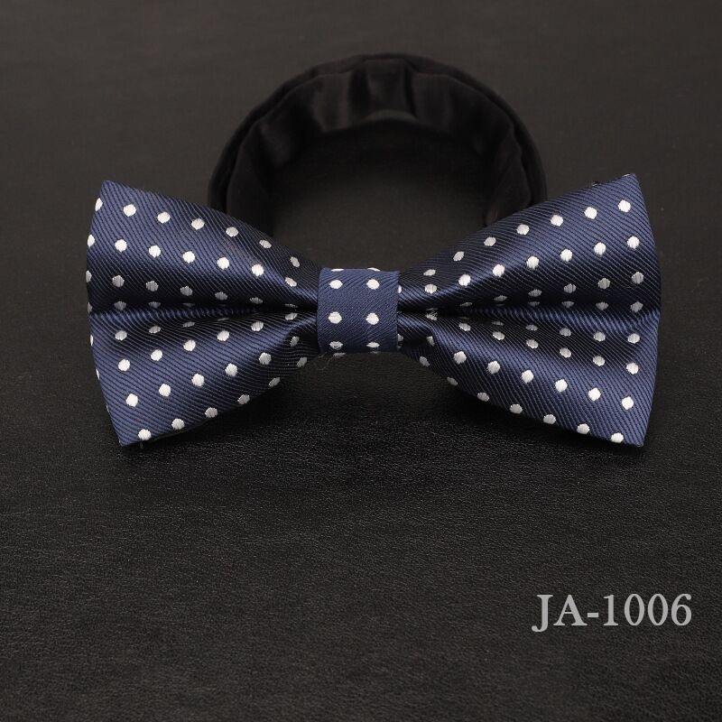 Дизайнерский галстук-бабочка, высокое качество, мода, мужская рубашка, аксессуары, темно-синий, в горошек, галстук-бабочка для свадьбы, для мужчин,, вечерние, деловые, официальные - Цвет: 1006