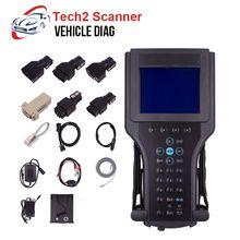 Para gm tech2 scanner ferramenta de diagnóstico para gm tech 2 com 32mb cartão de software para saab/opel/suzuki/holden/isuzu 12v caixa da caixa do carro