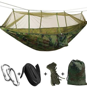 Double Hammock Portable Ultralight Mosquito net Parachute Hammock with Anti-mosquito bites for Outdoor Camping Tent camping mosquito net hammock net hammock mosquito