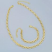 Women Jewelry Necklace Chain Chokers Gold Chunky Zirconia CZ FLOLA Nker81 Micro-Pave
