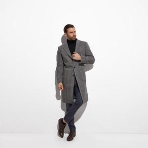 Image 3 - 2020 Tweed Topcoat Wide Grey Herringbone Long coat Custom Made Warm Winter Autumn Long Jacket, Manteau Homme Fasion Design