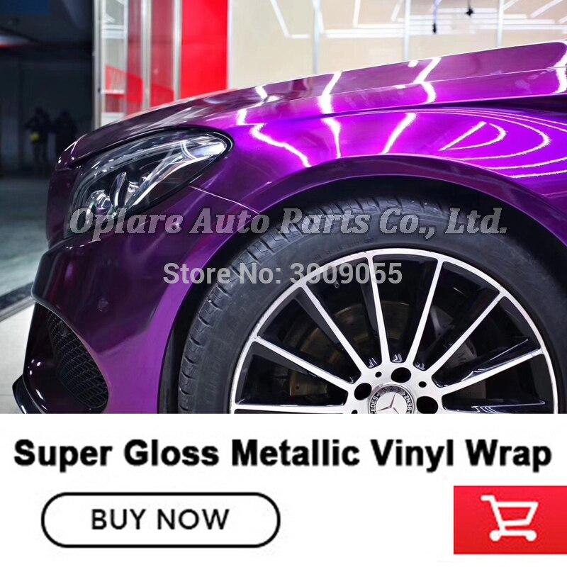 Film d'emballage de peinture métallique en vinyle métallique super brillant de la plus haute qualité - 3