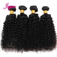 Jaycee Afro Verworrene Lockige Haar 4 bundles deal Raw Indisches Haar Bundles Menschenhaar-webart Erweiterung Natürliche Farbe 100G nicht Remy
