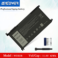 SKOWER WDX0R Lapotp Батарея для Dell Inspiron 13 5378 7368 5368 15 5538 5567 5568 15 7000 7378 7560 Latitude 14 3480 11 4 V/42WH