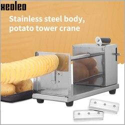 XEOLEO Potato Tower Cutter Potatos Chip maker Potato Tower machine Manual Rotater Tornado Potato Machine Kitchen home Tool