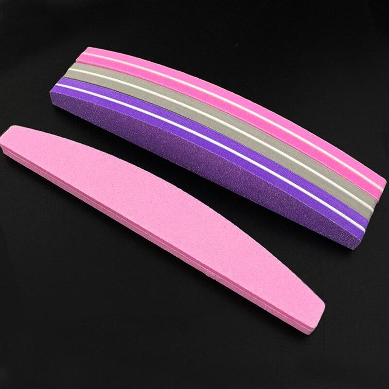 10pcs Sponge Nail File Sandpaper Buffs For Nails 100/180 Sanding Foam Emery Board Buffer Nail Files Random Color