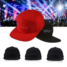 LED Display Hat Visor Cap Cool Fashion Board Baseball Hip Hop Party Golf Cap Running Cap Seal Team Caps Women Sports Cap Concert(China)