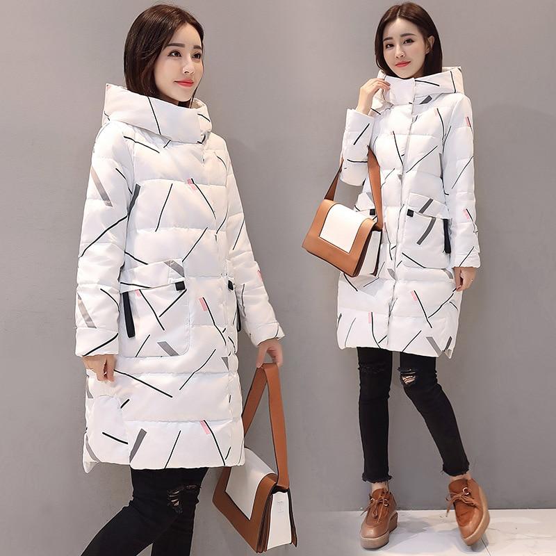 Elegant Long Sleeve Warm Zipper   Parkas   Women's Down Jacket Office Lady 2019 New Fashion Women's Jacket Winter Hooded Long Coat