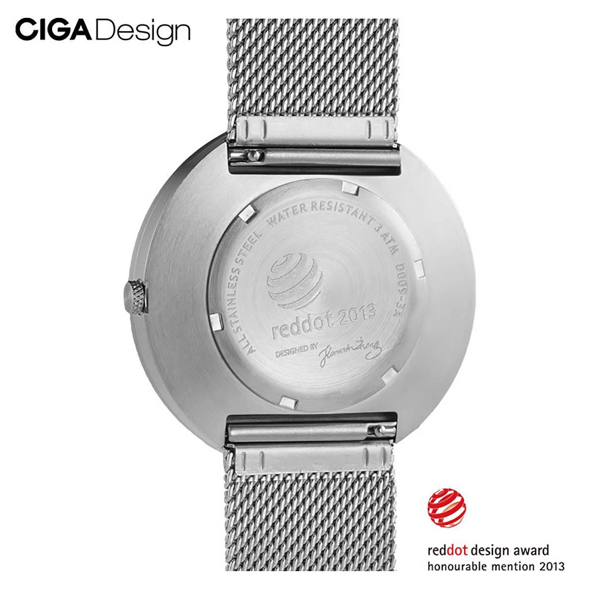 CIGA conception CIGA montre à Quartz mode Simple Quartz acier/cuir ceinture point rouge conception prix montre hommes montre série X - 4