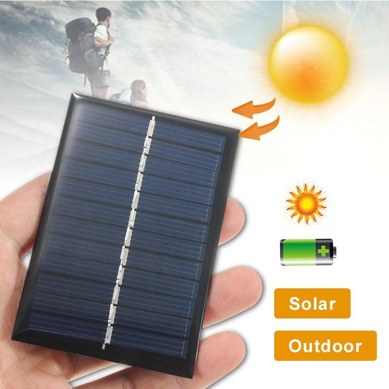 Поликристаллическая батарея 6в 0,6 Вт DIY, силиконовая солнечная панель, стандартный эпоксидный модуль заряда 80x55 мм, мини солнечная батарея