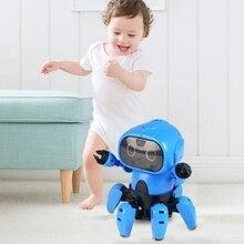 Усовершенствованная DIY 6 брюки с широкими штанинами RC робот инфракрасное препятствие избегания жест Управление программируемый с передатчиком детские игрушки