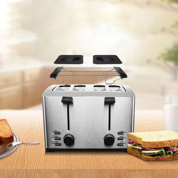 Automatic Toaster Household Toast Machine 4 Slices Breakfast Machine Toaster Stove Equipment THT-3012B 2
