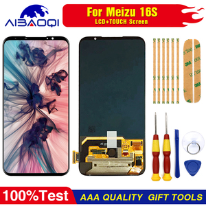 """Image 3 - AiBaoQi Original For 6.0"""" Meizu 16S 16 S LCD Display Screen+Touch Panel Digitizer For Meizu 16S AMOLED LCD Display with frame"""