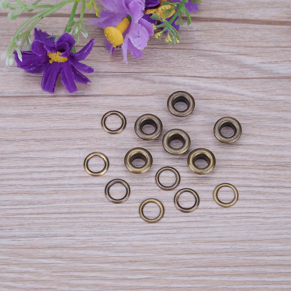 100pcs Clothes Shoes Scrapbook Eyelets Round Inner Hole 4/5/6/8mm Metal eyelets For Scrapbooking Garment Eyelets Apparel