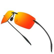 Мужские солнцезащитные очки без оправы hbk квадратные небьющиеся
