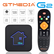 GTmedia Android 7.1 IPTV M3U Smart TV BOX Amlogic S905W 2GBRAM +16GBROM Set Top Box 4K HD H.265 2.4G Wifi media player TV BOX купить недорого в Москве