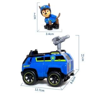 Image 3 - Juego de cachorros de rescate de La Patrulla Canina auténtica, coche de juguete, modelo de figura de acción Chase Skye, coche de escombros, regalo para niños