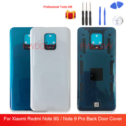 Original Glass Housing For Xiaomi Redmi Note 9S / Note 9 Pro Battery Back Cover Rear Door Replacement Case