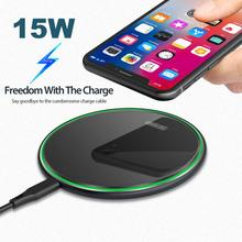 Universal 15W/10W Fast Qi Glass Wireless Charger For iPhone
