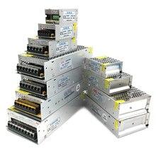 Светодиодный драйвер AC DC 3 5 9 12 15 18 24 в, трансформатор для освещения, импульсный источник питания 1A-60A для светодиодный одного драйвера, адапте...