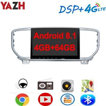 """YAZH 9.0"""" IPS Android 8.1 Auto Radio Player For KIA Sportage 2019 With 4GB 64GB Octa Core GPS Navigation Display Bluetooth 5.0"""