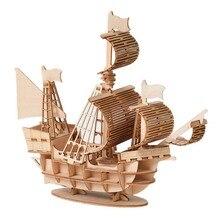 Деревянная игрушка-головоломка, Сборная модель, сделай сам, Парусный корабль, игрушки, 3D настольный декор, Наборы для творчества, детские игрушки