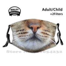 Gato exótico do gato dos gatos do gato com gatos com cara do gato impressa máscara protetora fresca engraçada da sarda do gato do tigre