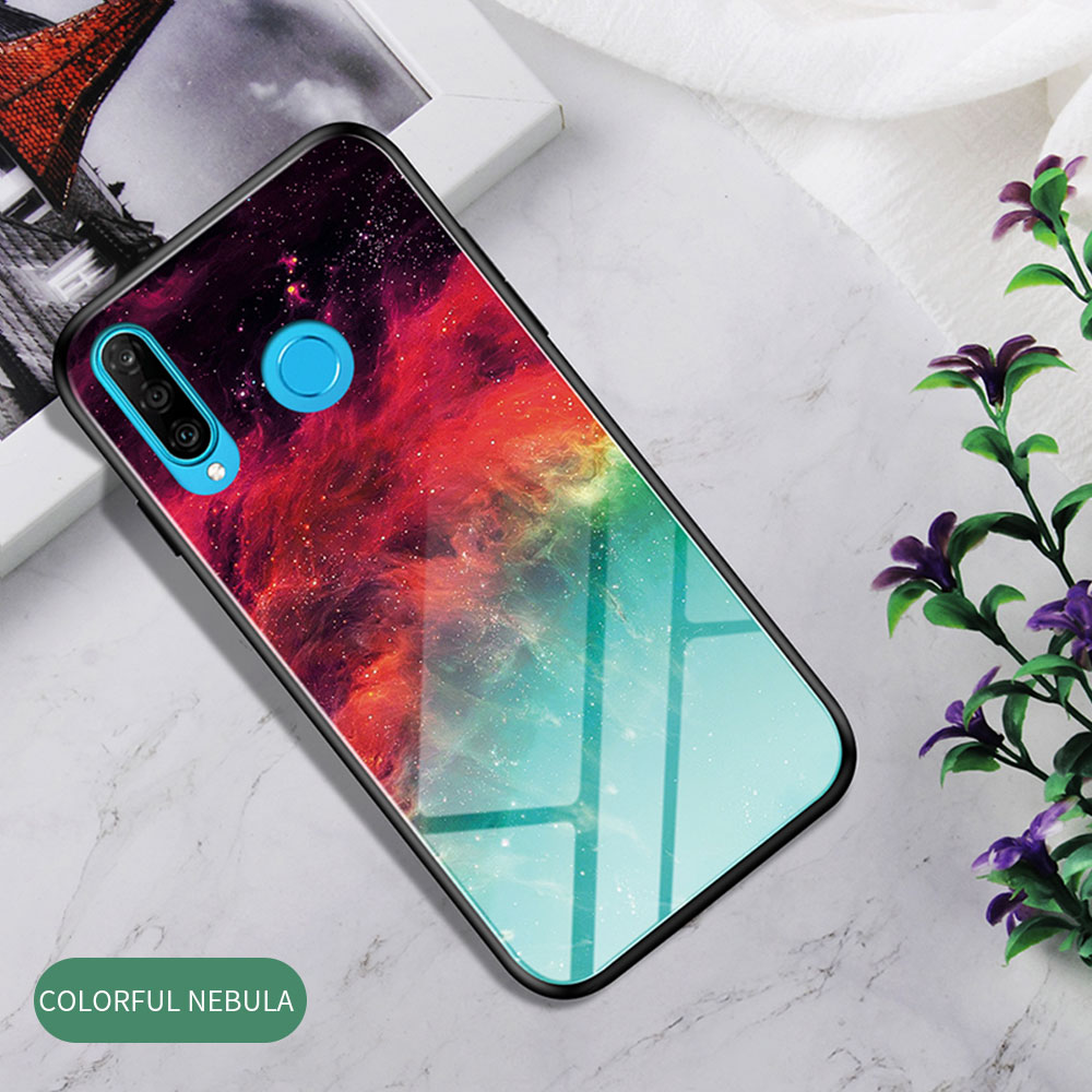 H0620e69d3f164275adf0d79f3fe58b31A Phone Case for Huawei Honor 20s 20 Case Marble Tempered Glass Soft Tpu Frame Back Case for Huawei Honor 20s Honor 20 Pro Case