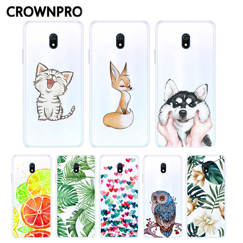 CROWNPRO Redmi 8A Capa Cartoon For Xiaomi Redmi 8A <font><b>8</b></font> A Redmi <font><b>8</b></font> Case Cute Silicone Soft Slim Matte White Cover Redmi8 Funda image