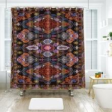 3d European Shredded Flowers Symmetrical Pattern Shower Curtains Waterproof Thickened Bath for Bathroom Customizable