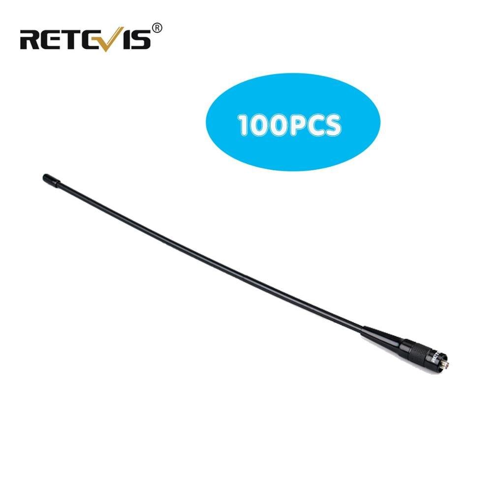 100pcs RETEVIS RHD-771 SMA-F Walkie Talkie Antenna VHF UHF Dual Band 39cm For Kenwood Retevis H777 RT5R Baofeng UV5R UV82 C9030A