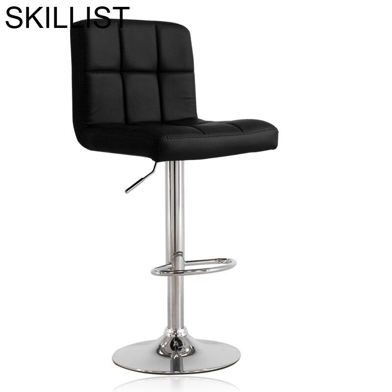 Ikayaa Barstool De La Barra Stoel Kruk Sgabello Sedia Cadir Taburete Sedie Leather Stool Modern Cadeira Silla Bar Chair
