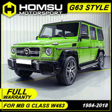G63 style FRP Unpainted Car Body Kit Front Rear Bumper Side Skirts Wheel Eyebrows Exhaust Pipes For Benz G Class W463 1984-2018(China)