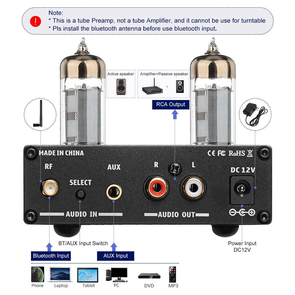 UE KLOP256 Preamplificatore Fono Volume Uscita EDA Preamplificatore portatile regolabile a basso rumore con controlli Livello giradischi Nero Stereo Metallo Elettronico Audio Domestico