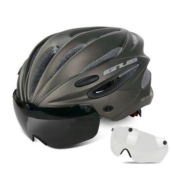 GUB K80 Cycling Helmet with Visor Magnetic Goggles Integrally-molded 58-62cm for Men Women MTB Road Bicycle  Bike Helmet 14
