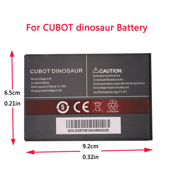 100% New Original CUBOT Dinosaur Battery 4150mAh Replacement backup battery For CUBOT Dinosaur Cell Phone