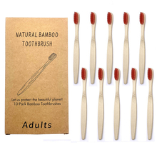 10PCS Bamboo Toothbrush Eco-Friendly BPA Free Soft Bristle Charcoal Teeth Whitening Adult Toothbrushes Health Dental Oral Care