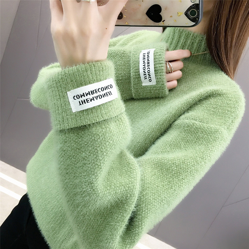 Turtleneck Pullover Vintage Sweater Autumn Winter Clothes Women Clothes 2020 Korean Women Warm Tops Pull Femme Sweaters ZT4661
